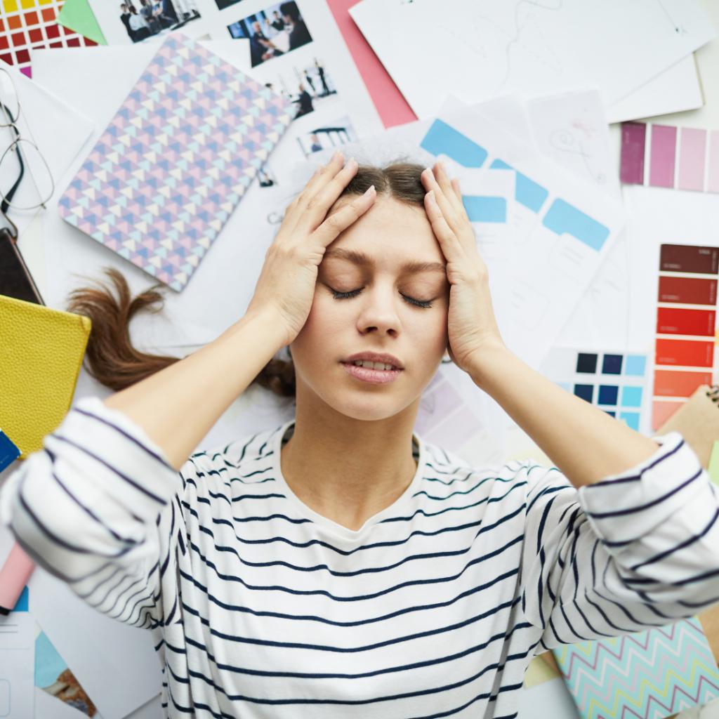 gestresste Künstler